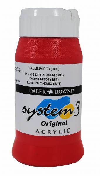 Daler Rowney  System 3 Akrilik 500 ml  503 Cadmium red hue