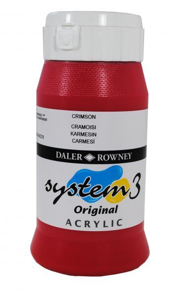 Daler Rowney  System 3 Akrilik 500 ml  Crimson 513