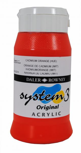 Daler Rowney  System 3 Akrilik 500 ml 619 Cadmium Orange hue