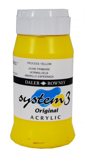 Daler Rowney  System 3 Akrilik 500 ml  675 Process Yellow