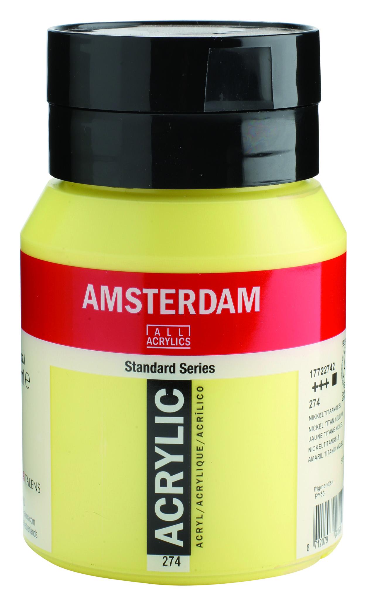 Amsterdam 500 ml Akrilik Boya 274 Nick. titanium yellow
