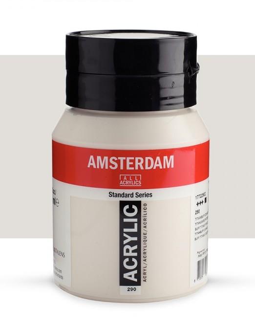 Amsterdam 500 ml Akrilik Boya 290 Titanium buff deep