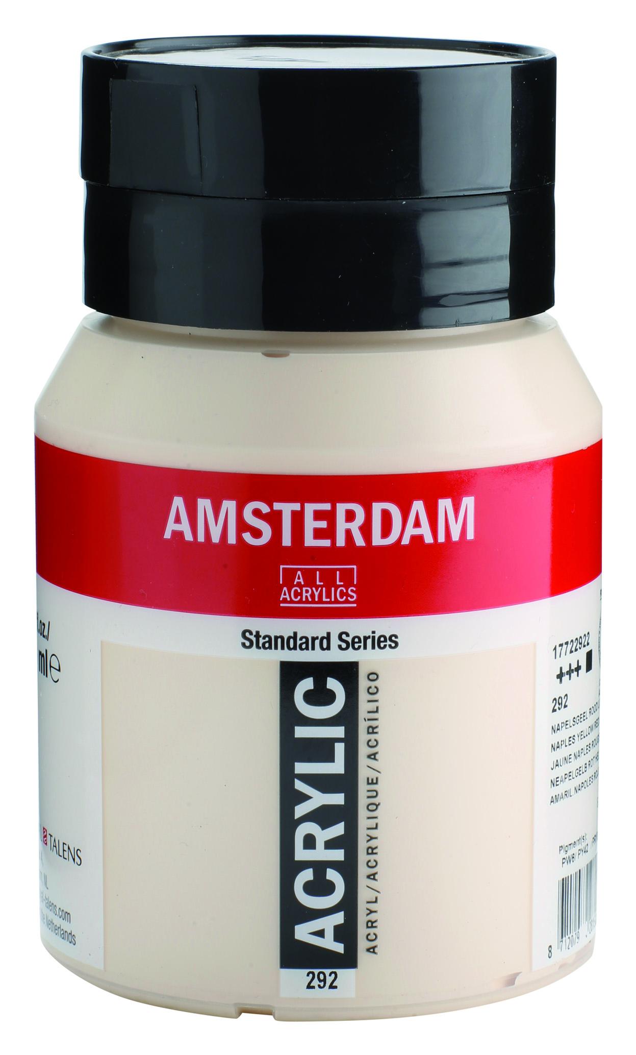 Amsterdam 500 ml Akrilik Boya 292 Naples yellow red light
