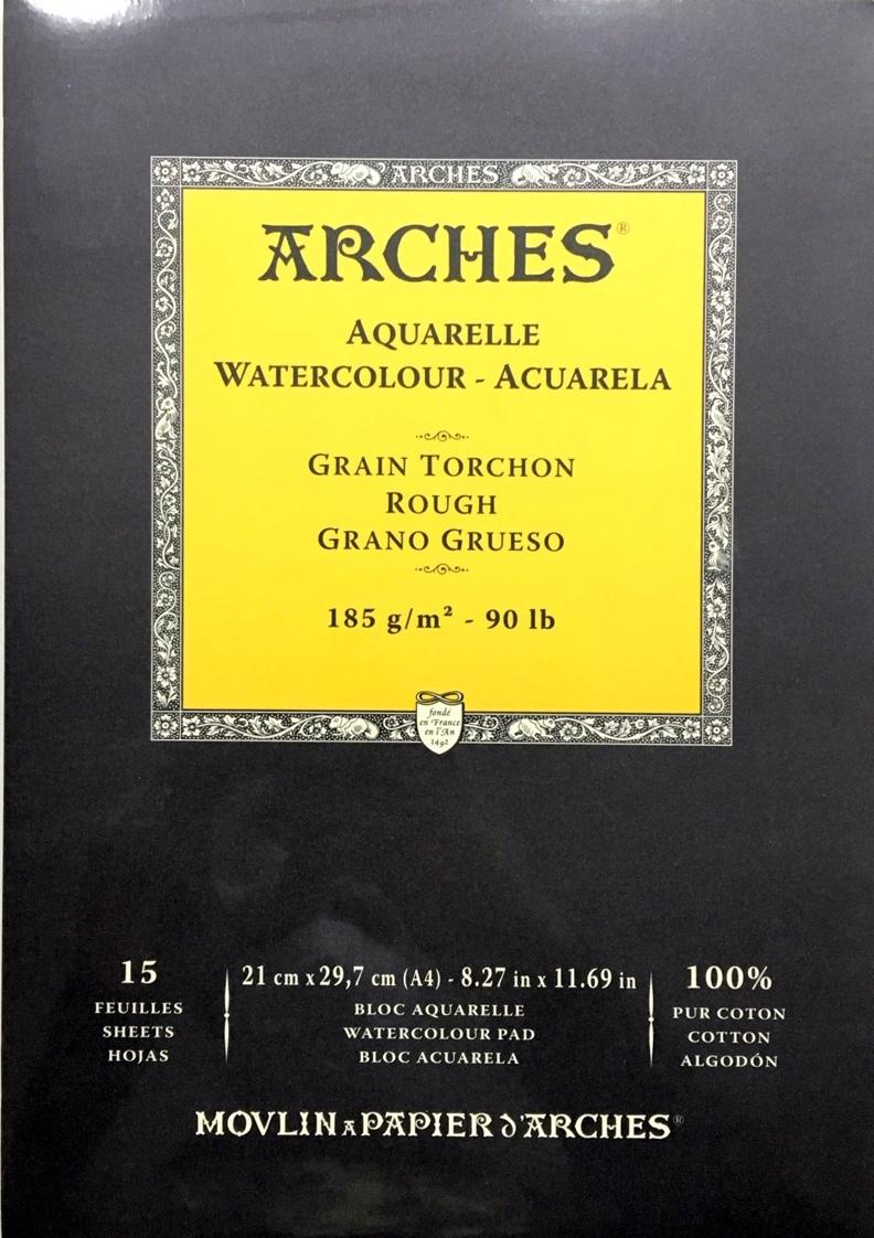 ARCHES SULU BOYA BLOK 185G 21CMX29,7 15 SAYFA  ROUGH
