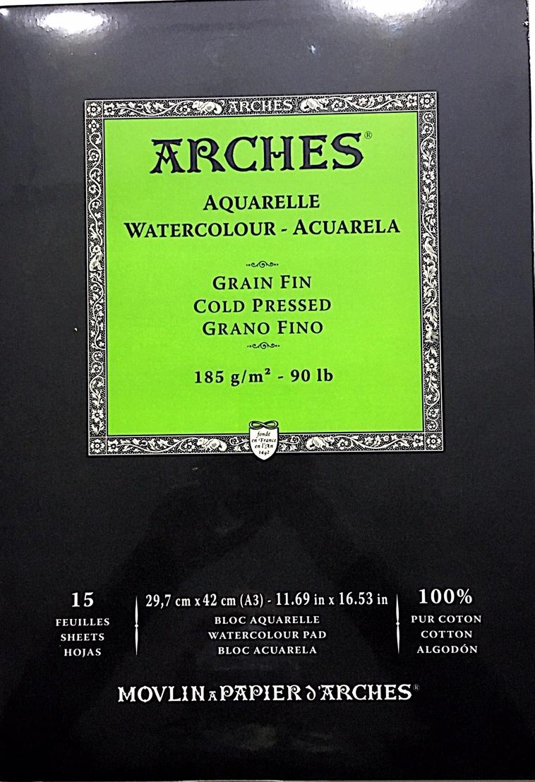 ARCHES SULU BOYA BLOK 185G 29,7X42 15 SAYFA COLD PRES