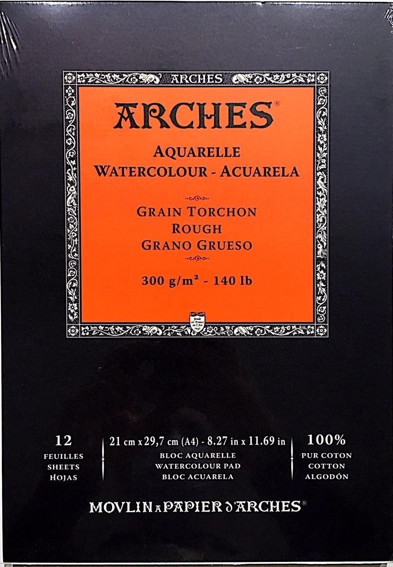 ARCHES SULU BOYA BLOK 300G 21X29,7  12 SAYFA TORCHON ROUGH