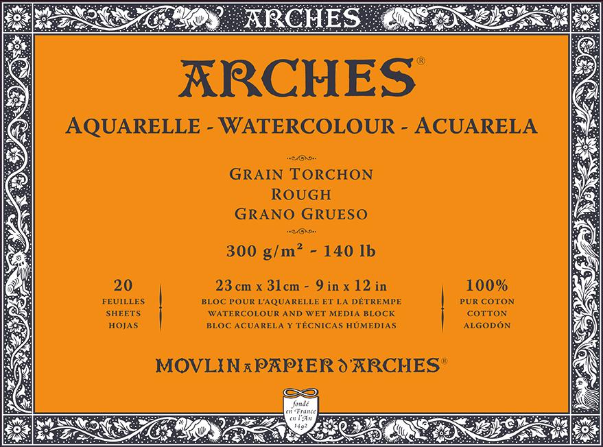 ARCHES SULU BOYA BLOK 300G 23x31CM 20 SAYFA TORCHON ROUGH