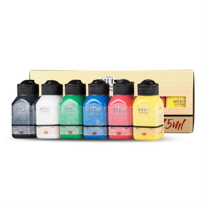 Artdeco Akrilik Boya Seti 6x75ml - Canlı Renkler