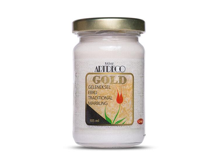 ARTDECO GOLD GELENEKSEL EBRU BOYASI 105 CC GÜMÜŞ 980