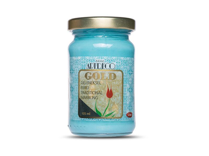 ARTDECO GOLD GELENEKSEL EBRU BOYASI 105 CC TURKUVAZ 570