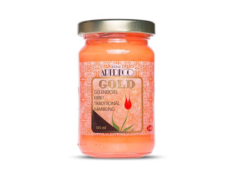 ARTDECO GOLD GELENEKSEL EBRU BOYASI 105 CC TURUNCU 250
