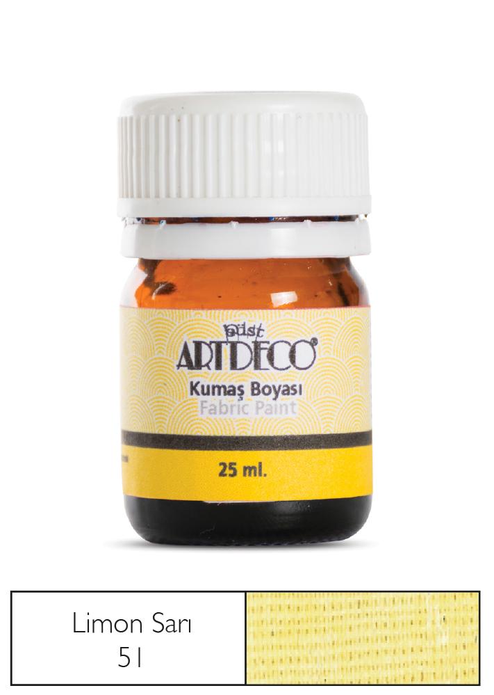Artdeco Kumaş Boyası 25ml Limon Sarısı 51