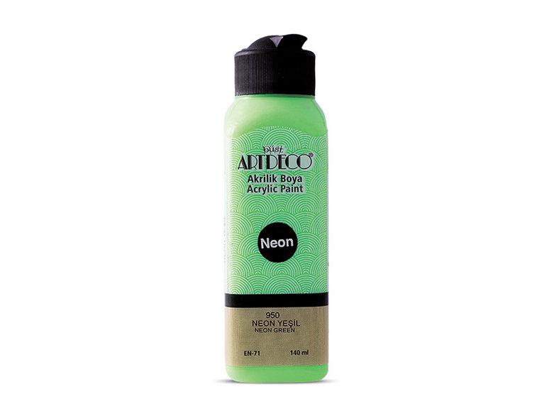Artdeco Neon Akrilik Boya 140ml NEON Yeşil 950