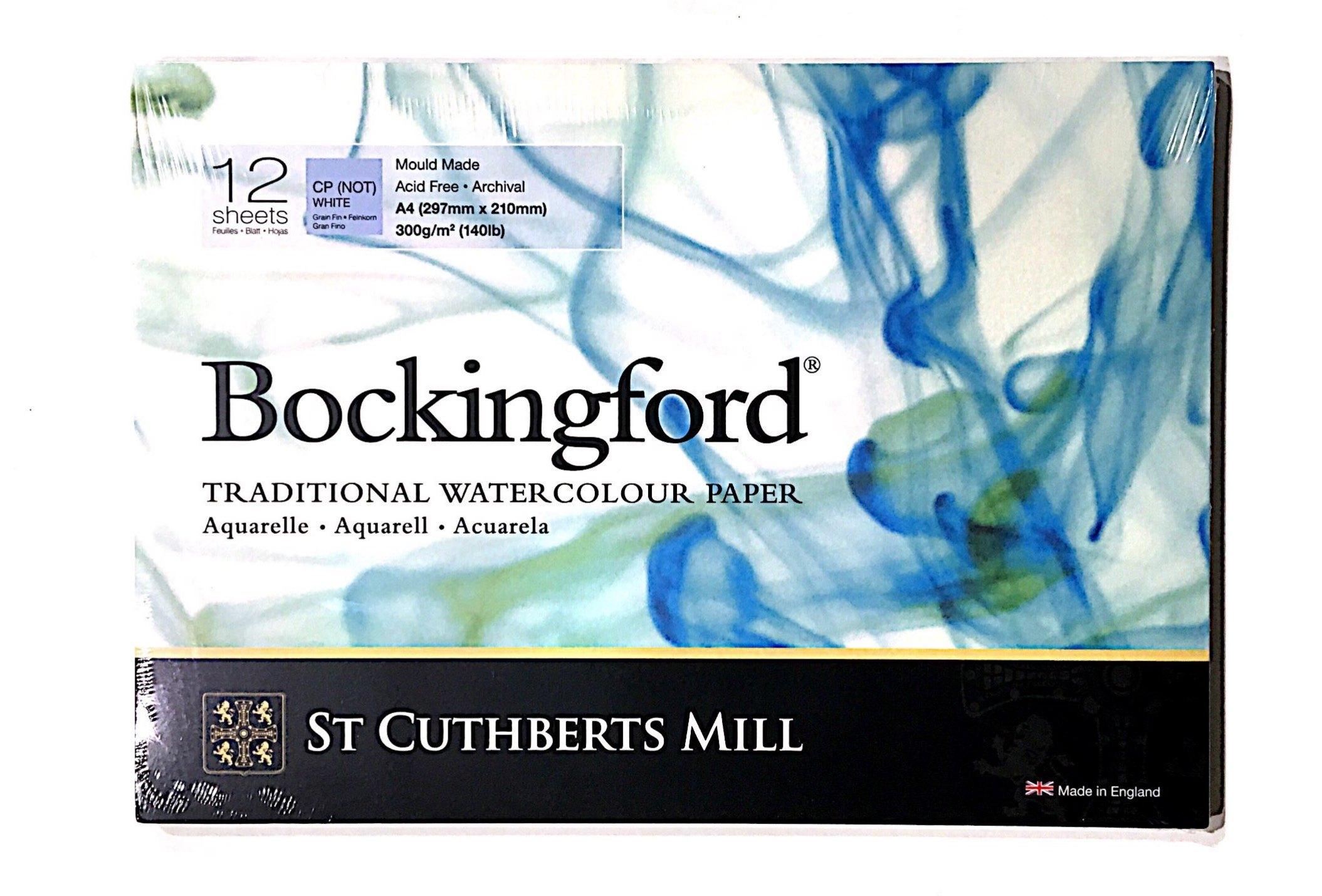 BOCKİNGFORD SULU BOYA DEFTERİ 300G COLD PRES  A4 12 SAYFA