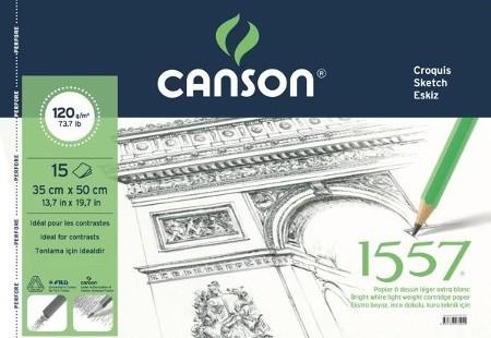 Canson 1557 Resim Defteri  120GR 35x50 15Ypr Spiralli
