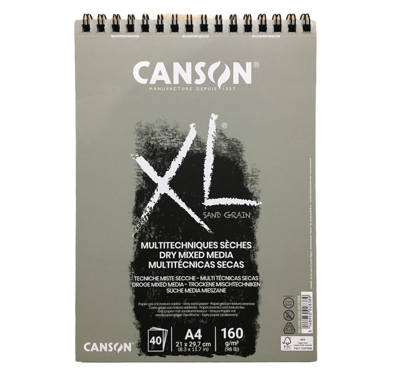 Canson Dry Mixed Media Grey Sand  Grain  40SYF 160Gr A4