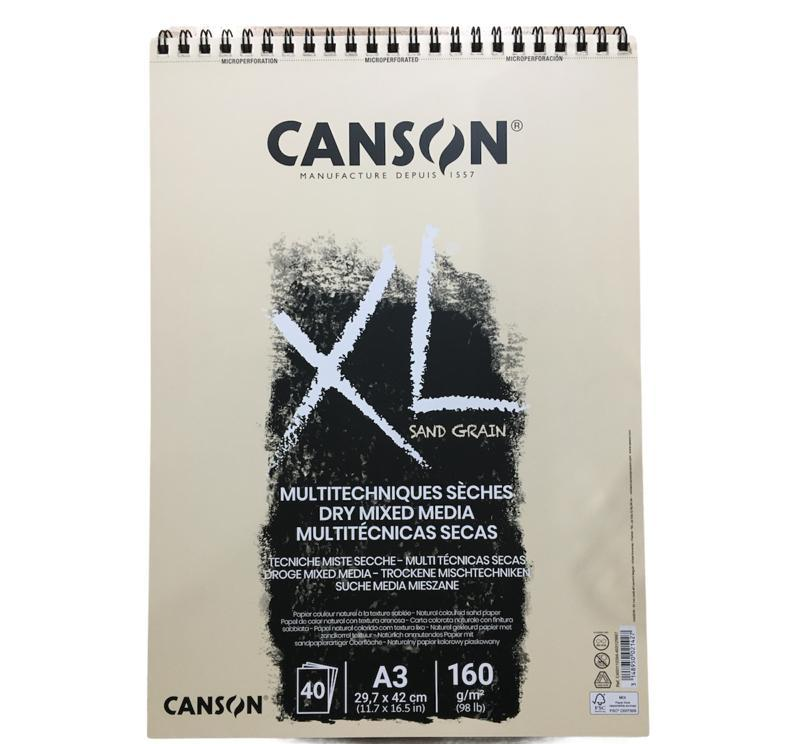 Canson Dry Mixed Media Naturel Sand Grain 40Syf 160Gr  A3