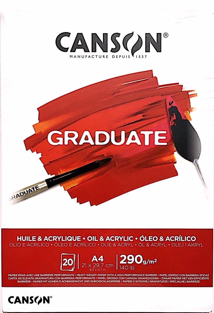Canson Graduate Yağlı ve Akrilik Blok 290g 20 Sayfa A4