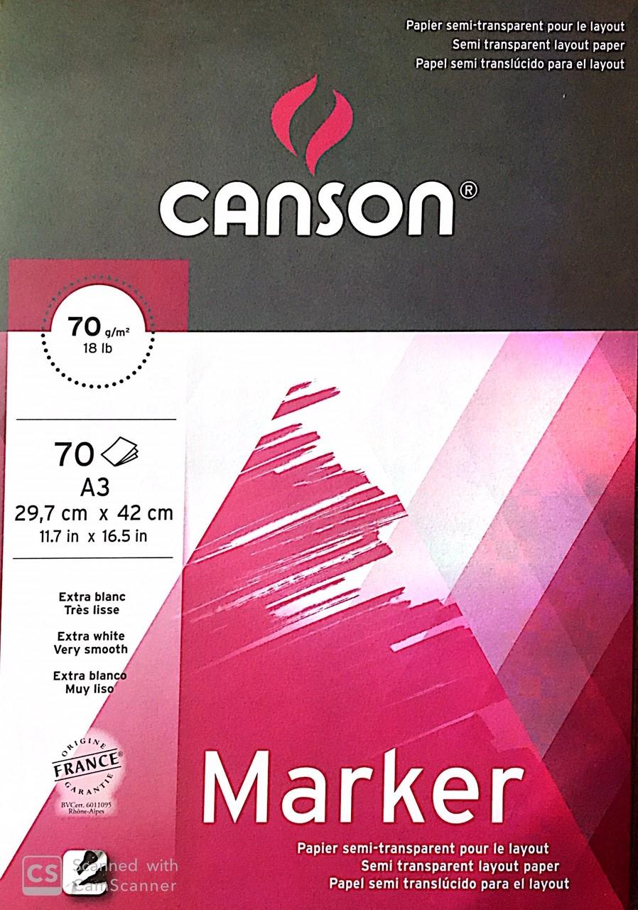 Canson Marker Defteri 70g 70 Sayfa A3