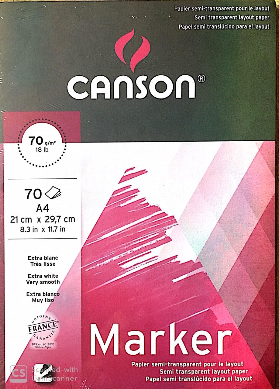Canson Marker Defteri 70g 70 Sayfa A4