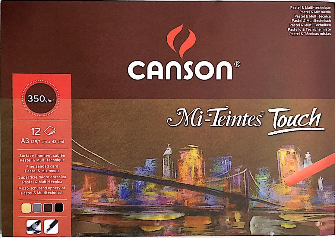 CANSON Mİ-TEİNTES TOUCH PASTEL DEFTERİ 12 YAPRAK 350G A3 (29,7x42)
