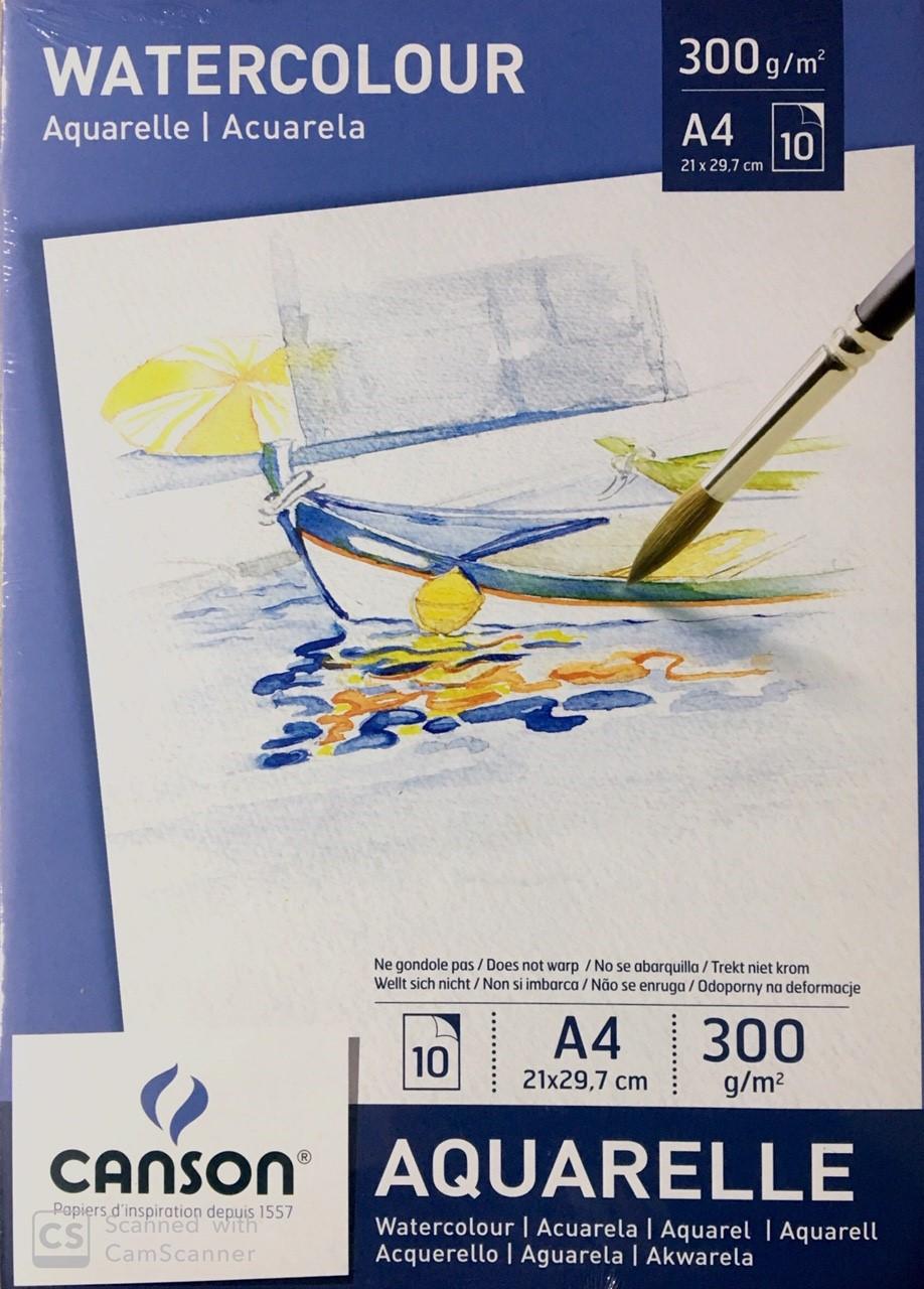 Canson Sulu Boya Defteri 300g 10 Sayfa A4
