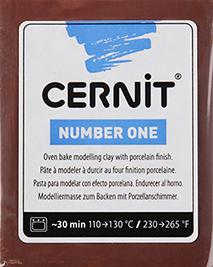 CERNİT NUMBER ONE POLİMER KİL 56GR  BROWN 800