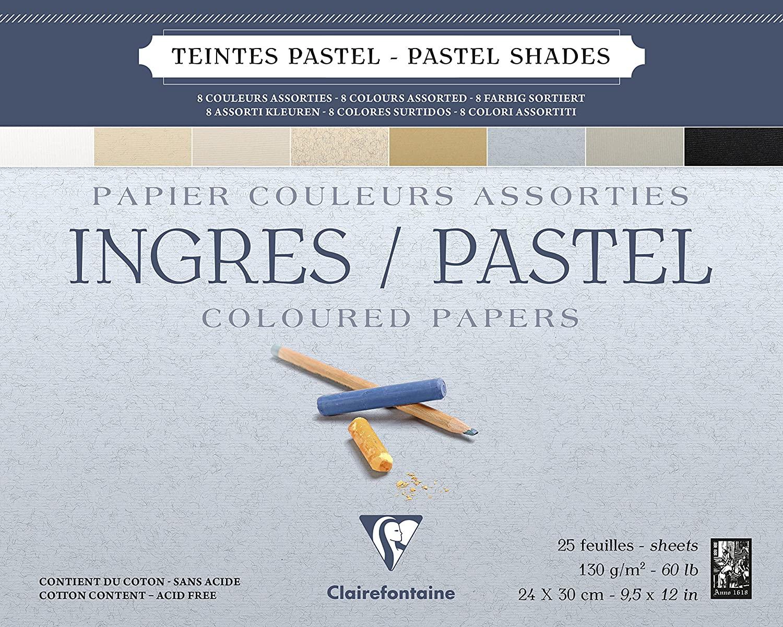 Clairefontaine Ingres Pastel Blok Defter 30x40 25yp 130gr  IP96488