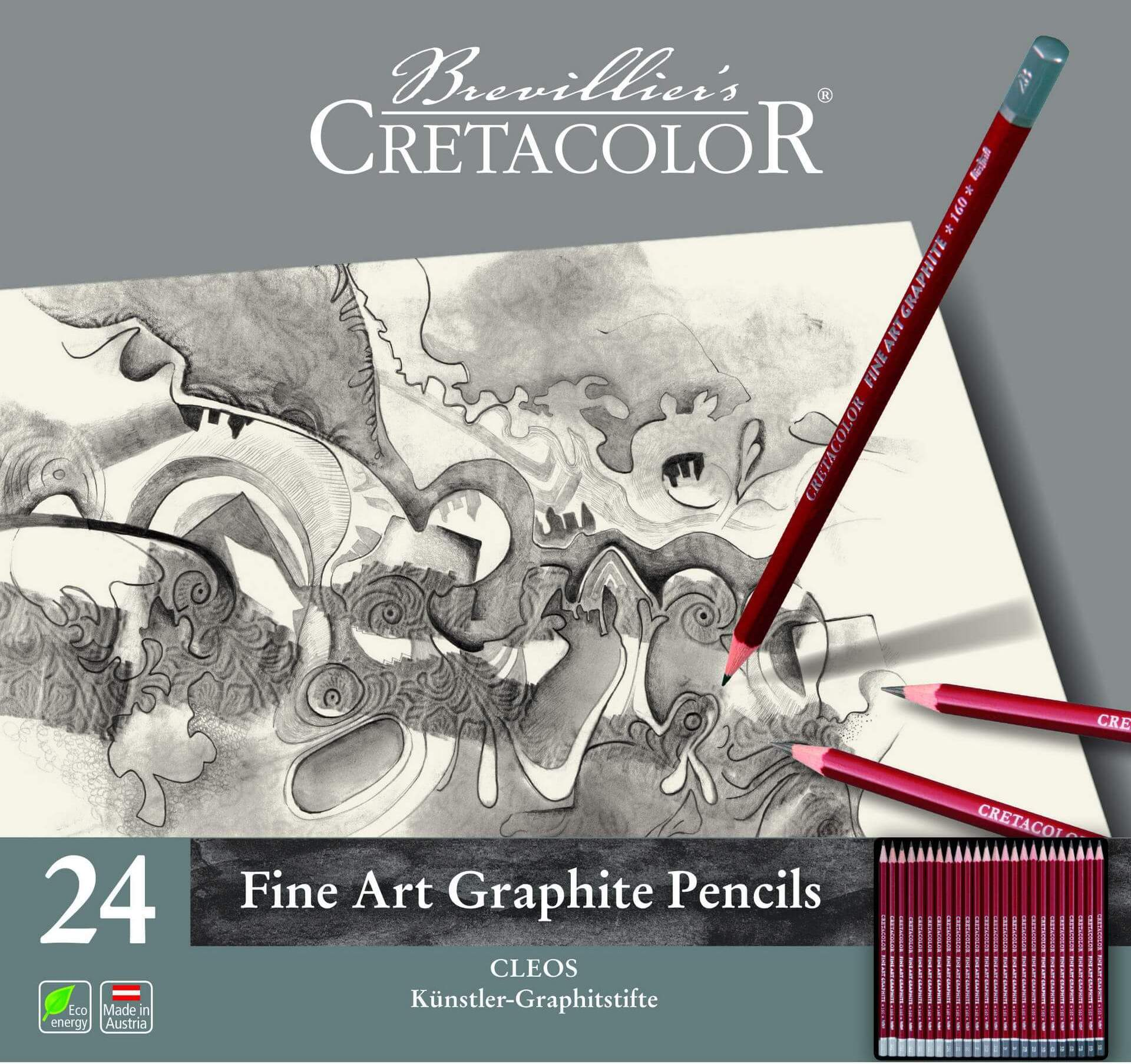 Cretacolor Dereceli Kalem Seti 24 lü 160 24