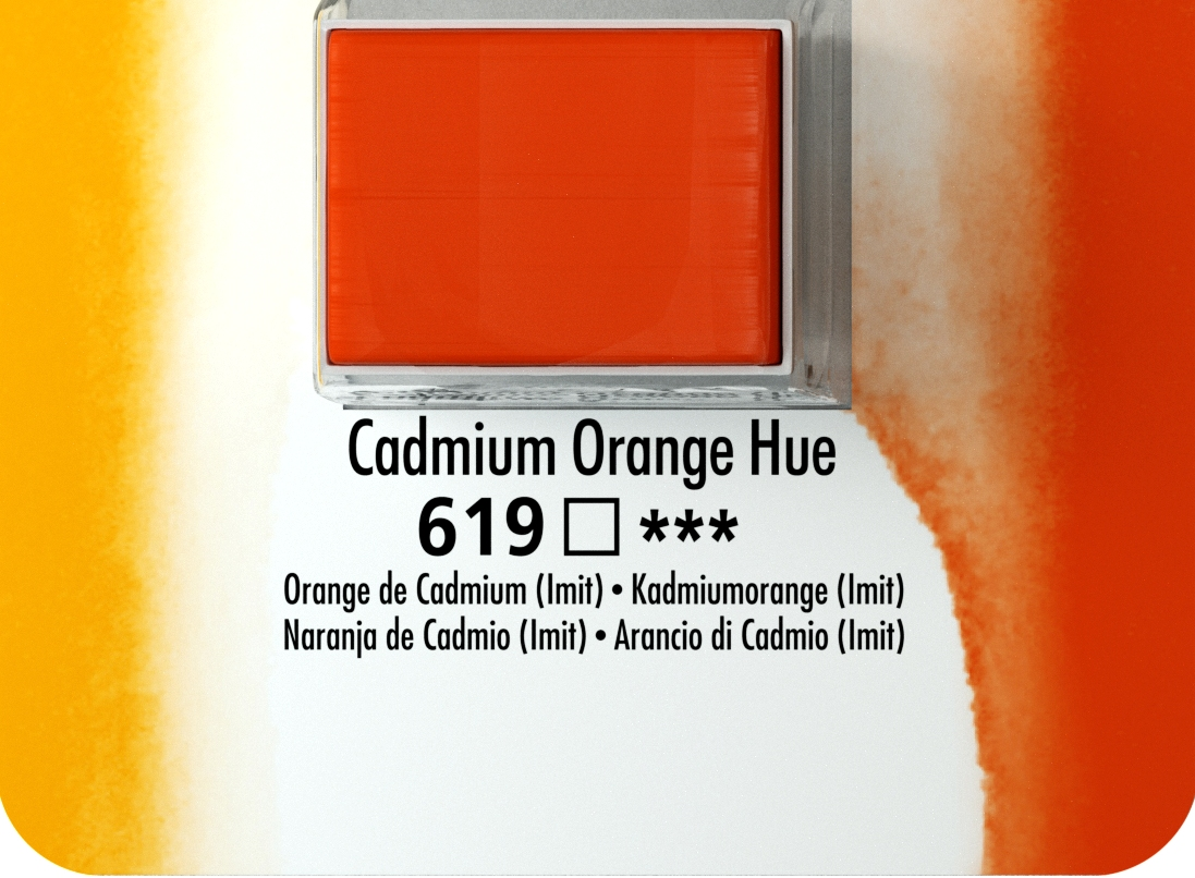 DALER ROWNEY AQUAFİNE SULU BOYA TABLET  CADMİUM  ORANGE 619