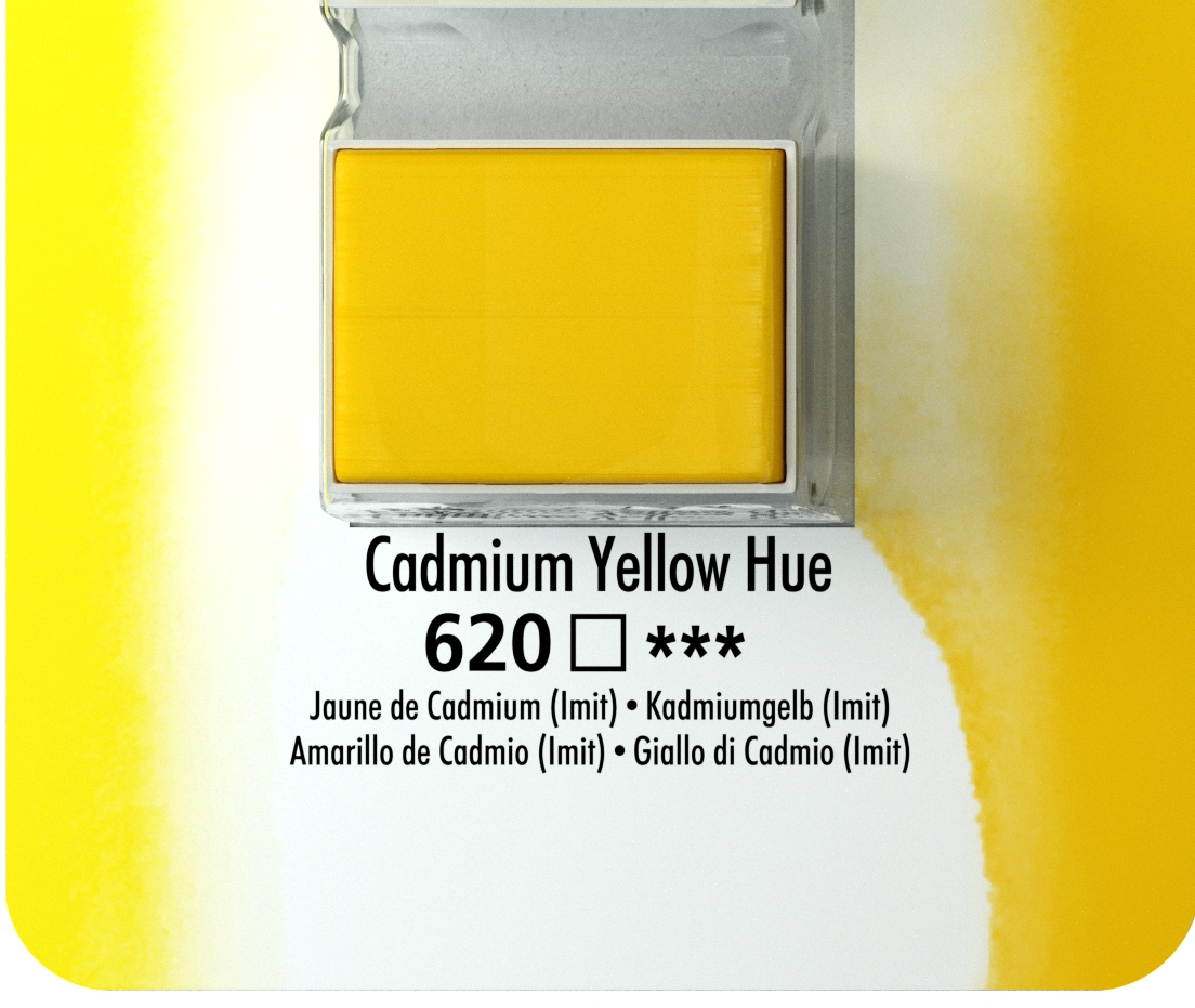 DALER ROWNEY AQUAFİNE SULU BOYA TABLET CADMİUM  YELLOW 620