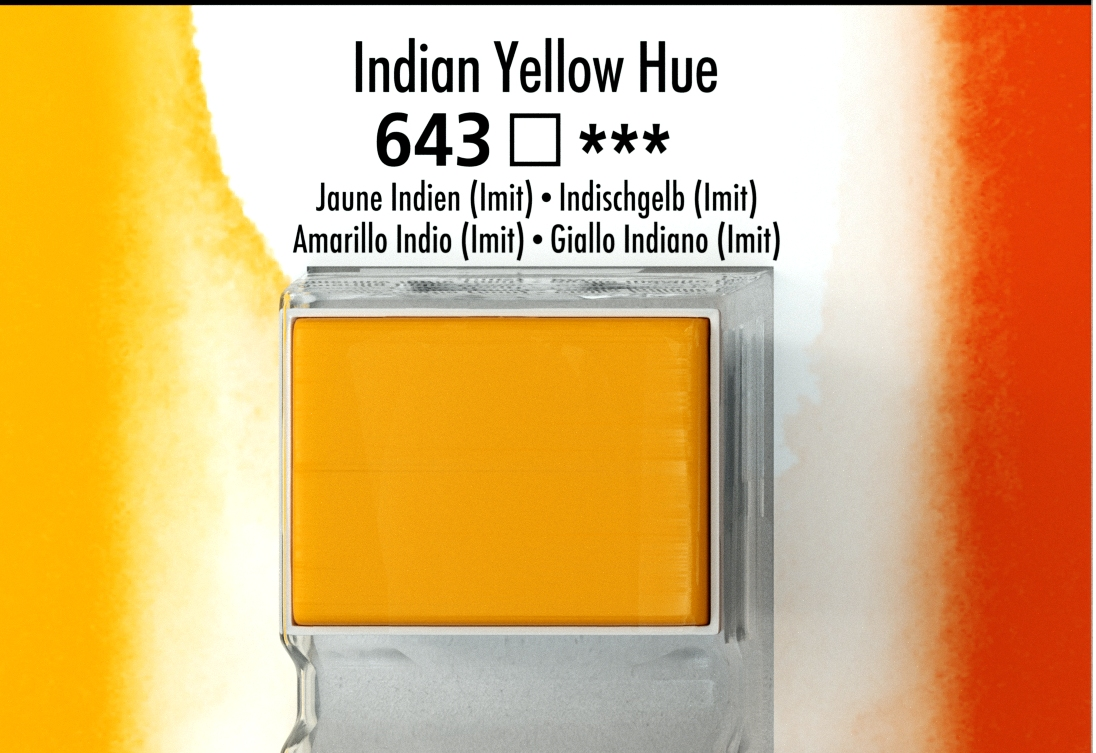 DALER ROWNEY AQUAFİNE SULU BOYA TABLET  indian yellow 643