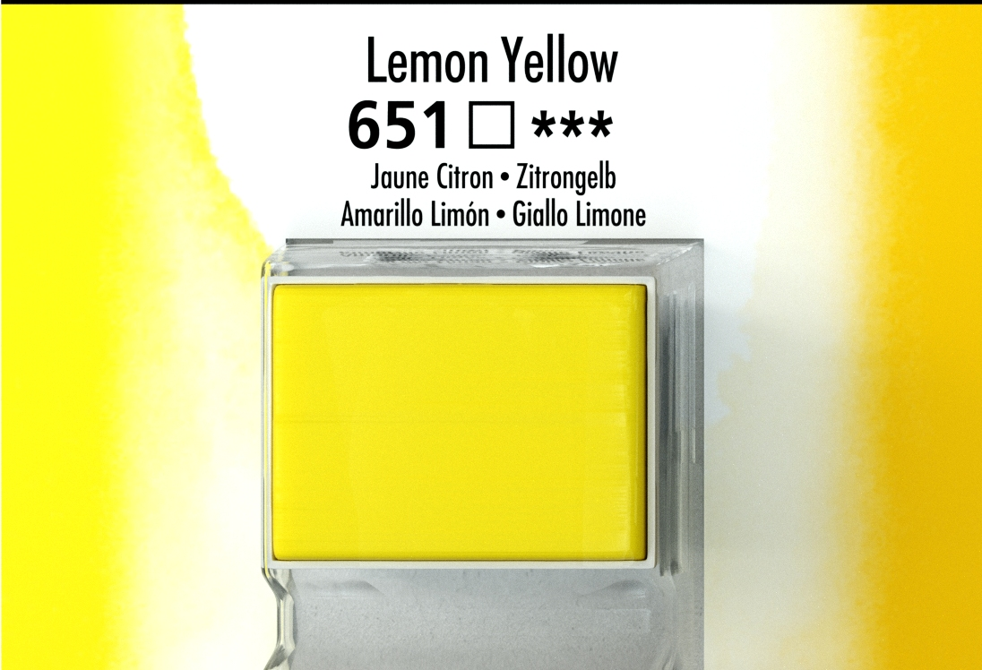DALER ROWNEY AQUAFİNE SULU BOYA TABLET  LEMON YELLOW 651