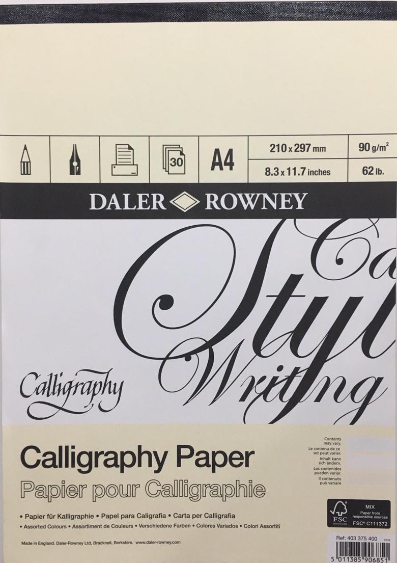 Daler Rowney Calligraphy Paper Kaligrafi Defteri  90g 30 Sayfa A4