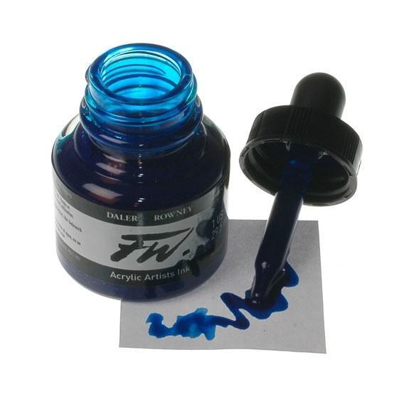 Daler Rowney FW Ink 29.5ML Akrilik Mürekkep Indigo Mavi