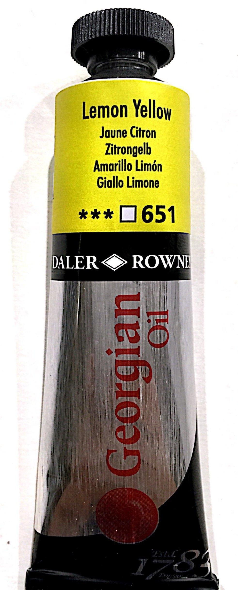 Daler Rowney Georgian  Yağlı Boya 38ml  Lemon Yellow 651