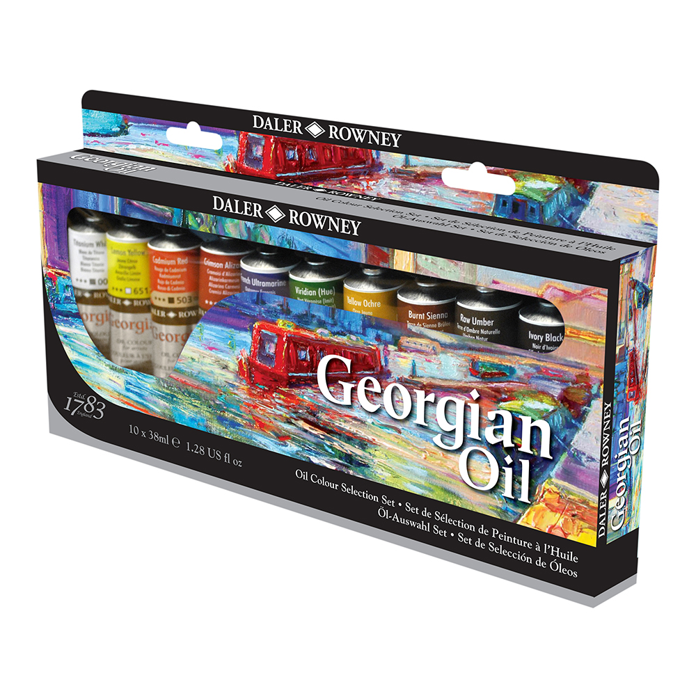 Daler Rowney DALER ROWNEY SELECTİON SET GEORGİAN YAĞLI BOYA 10 LU X38 ML