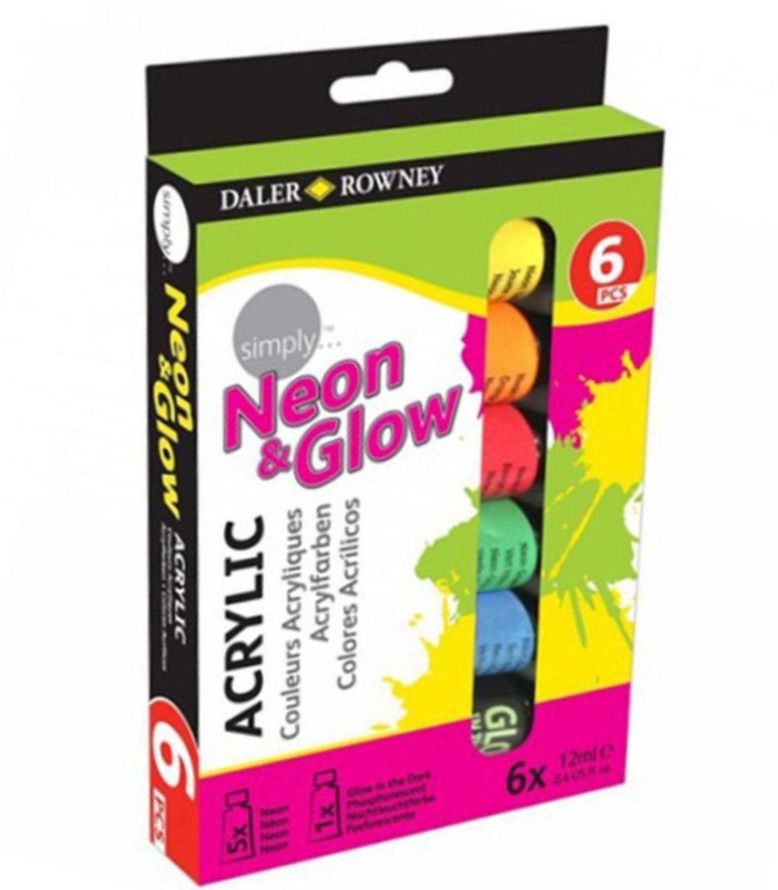Daler Rowney Simply Neon Akrilik Boya 6x12ml