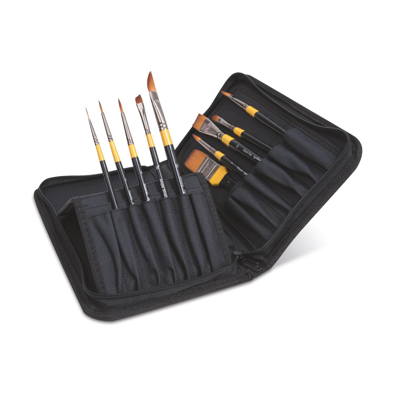 Daler Rowney System 3 Brush Classic Zip Cases Kısa Saplı Sentetik Fırça 10lu