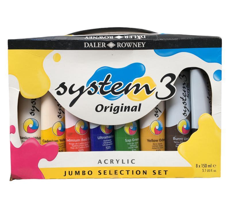 Daler Rowney System 3 Selection Akrilik Set  8x150ml