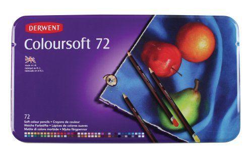 DERWENT COLOURSOFT 72'Lİ TENEKE KUTU KURU BOYA