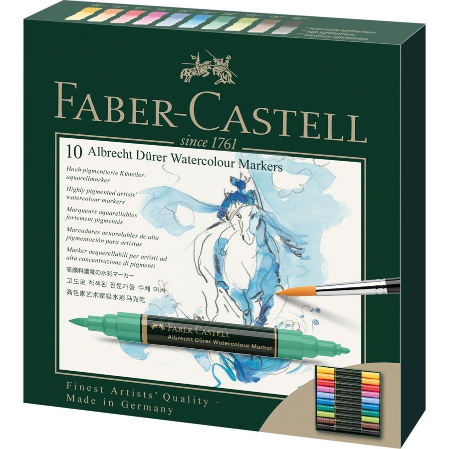 Faber Castell Albrecht Dürer Suluboya Markörü 10 lu Set