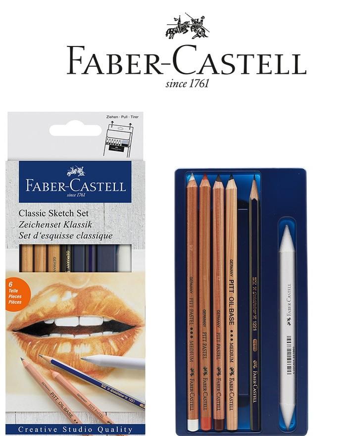 FABER CASTELL CLASSİC SKETCH SET 6 PARÇA