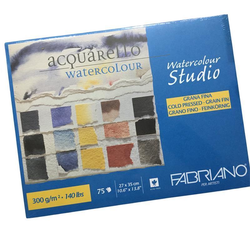 Fabriano Acquarello Studio Sulu Boya Blok 300gr. 27x35cm (75sayfa)