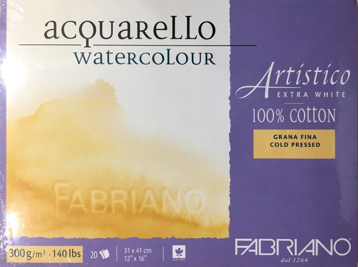 FABRİANO ARTİSTİCO EXTRA WHİTE SULU BOYA BLOĞU COLD PRESS 300G 31x41cm 20 SAYFA