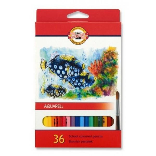 Koh-i Noor Aquarell Kuru Sulu Boya Kalemi Karton Kutu 36 lı