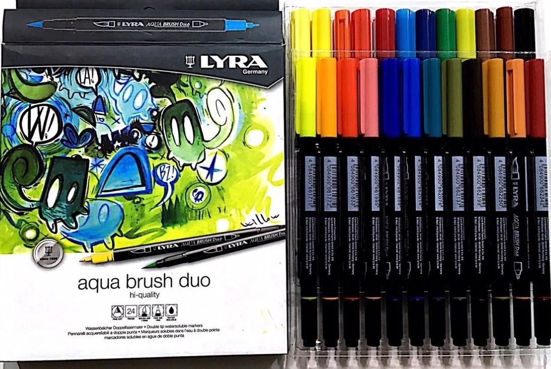Lyra Aqua Brush Duo Fırça Uçlu Kalem - 24 Renk