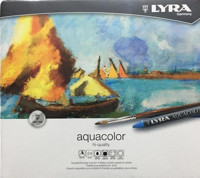 Lyra Renbrandt Aquacolor Sulandırılabilir Pastel  24 lü