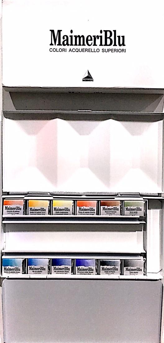 Maimeriblu  Profesyonel Sulu Boya Yarım Tablet 12 Renk