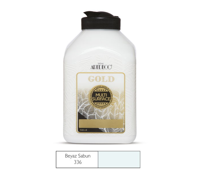 MULTİSURFACE ARTDECO GOLD AKRİLİK BOYA 500 ML  BEYAZ 340